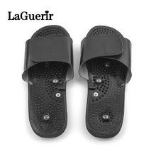 Slippers-Suit Massager-Machine Acupuncture Electrode Relaxing Body-Foot for Tens Black