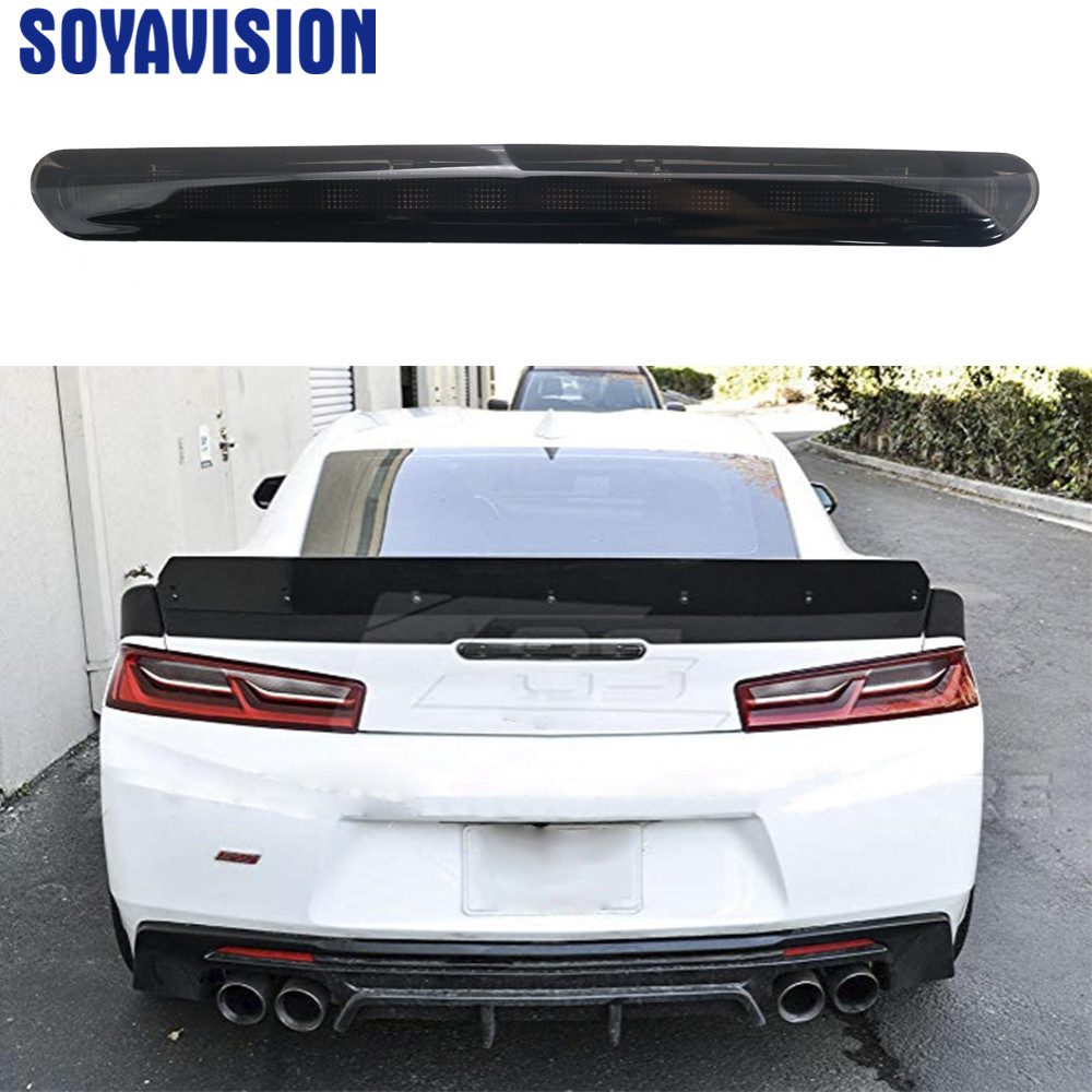 Third Brake Stop Light Red Light Color Rear 3RD Lamp NEW Smoke For Camaro 2016