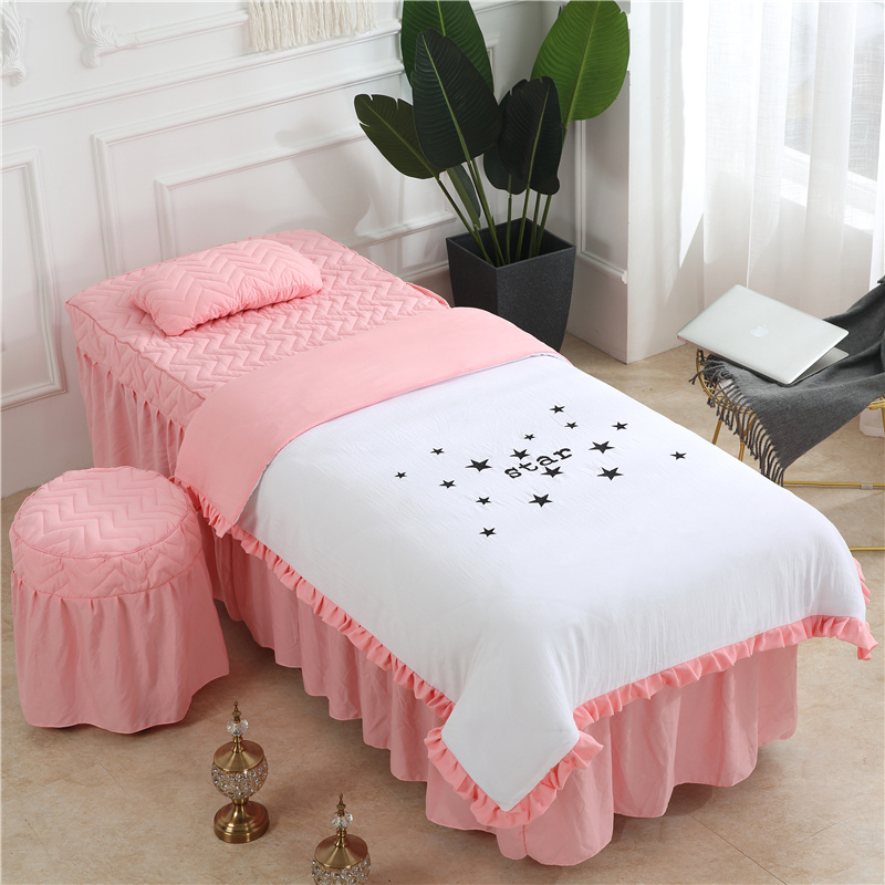 Admirable Us 49 99 50 Off Classic Beauty Salon Bedding Set Star Printing Multi Color Optional Duvet Cover Bedsheet Pillowcase Stool Cover Customized In Ncnpc Chair Design For Home Ncnpcorg