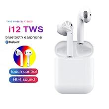 I12 СПЦ Vip дропшиппинг Ссылка Bluetooth наушники беспроводной стерео Touch гарнитура с зарядки окно для Iphone наушники Xiaomi