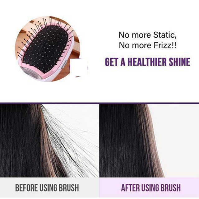 Anti Frizz Ionic Styling Hair Brush Calm Frizzy Flyaway Hair