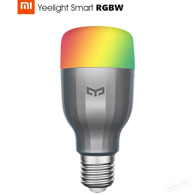 Original Xiaomi Yeelight Smart Colourful LED Bulb Wifi Remote Control Adjustable Brightness Eyecare Light Smart Bulb Mi Light xiaomi yeelight led light bulb ipl