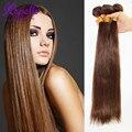Али Moda Бразильский Виргинский Волосы Прямые Дешево человеческие Волосы Соткать 3 Пучки Светло-Коричневый Красота Навсегда Человеческих Волос