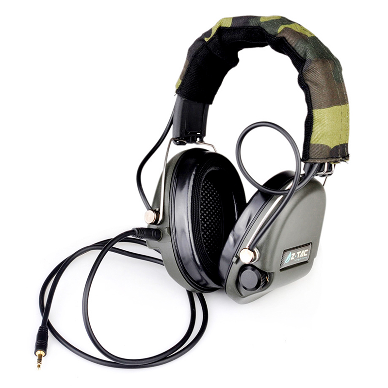 Z-Tactical Noise Reduction Headset Comtac IPSC Style Tactical Hunting Shooting Protective Earphone for Airsoft Military Radio z tactical military headset headphone airsoft radio comtac ipsc od for ptt military radio z 111