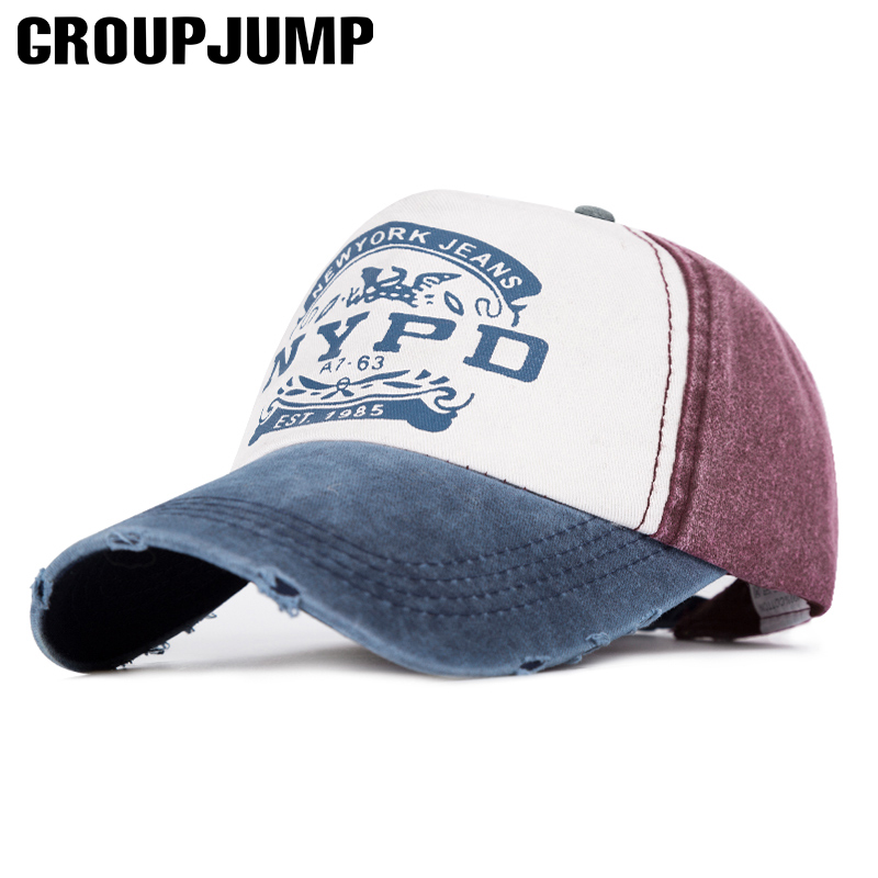 GROUP JUMP Brand Baseball Cap Women Patchwork Cap Men Fitted Hat Unisex Bone Casual Caps Gorras Female Hat Male Snapback Caps brand winter hat knitted hats men women scarf caps mask gorras bonnet warm winter beanies for men skullies beanies hat