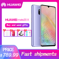 Chinese version HUAWEI Mate 20 X Smartphone 7.2 inch Full Screen 2244x1080 Kirin 980 octa core 5000 mAh 4*Camera Quick Charger