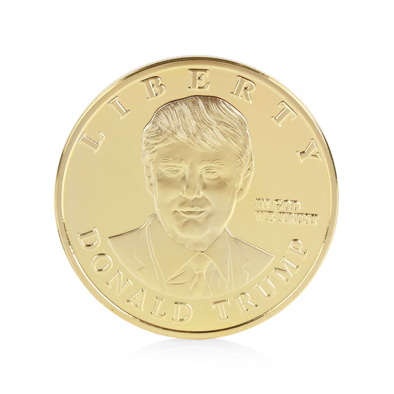 Coins Gift Gold Plated Zodiac US Presidential Candidate Donald Trump Commemorative Coin Collection Gifts