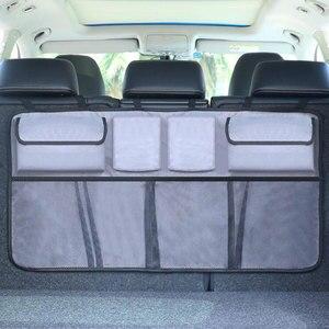 Image 4 - Trunk Organizer Car Backseat Storage Organizer,Large Capacity Foldable Backseat Mesh Storage Bag/SUV Net Mesh Storage Stowing