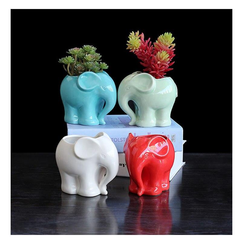 Милый слон керамические smalll ваза дома настольные украшения слон ваза