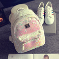 2017 New Hot Fashion Women Female Casual Simple Classic Sequins Zipper Soft Cute Students School Bags Shoulder Bags Backpacks