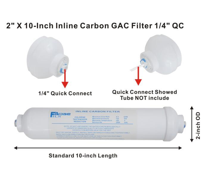 """Ice Makers with 1//4/"""" Quick-Connect 3PCS Inline Water Filter For Refrigerators"""