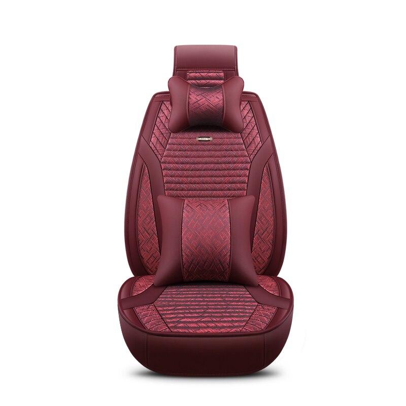 2018 новый лен универсальные чехлы сидений автомобиля 5 авто Подушки Fit Kia все модели Рио K2 K3 K5 K4 Cerato sportage Optima Maxima