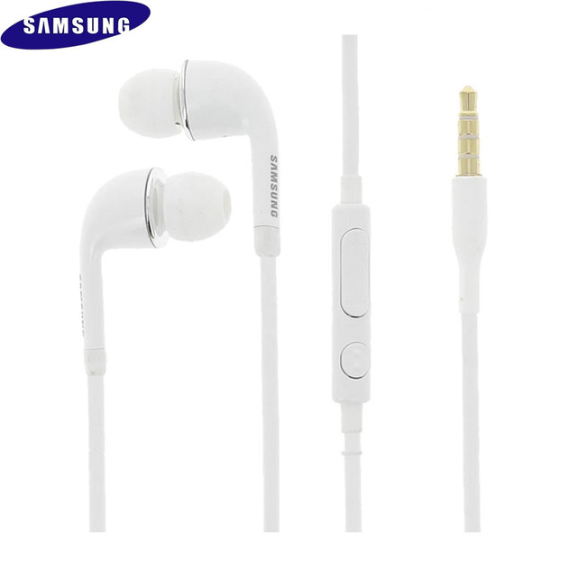 20 PCS High Quality 3.5mm In Ear Stereo Earphone with Mic Logo J5 Handsfree For Samsung Galaxy S4