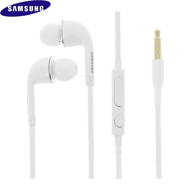 20 pièces haute qualité 3.5mm dans loreille stéréo écouteur avec micro Logo J5 mains libres pour Samsung Galaxy S4