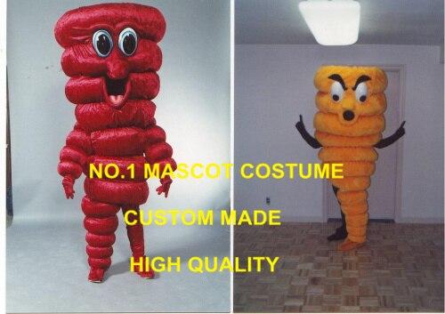 1 Set Red/Yellow Tornado Mascot Costume Halloween Tornado Theme Halloween Carnival Anime Cosply Mascotte Costumes Fancy 1800