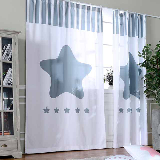 Living Room Ready Made Curtains Drapes Star Door Curtains For The Kitchen  Room Divider Finished Children Part 71