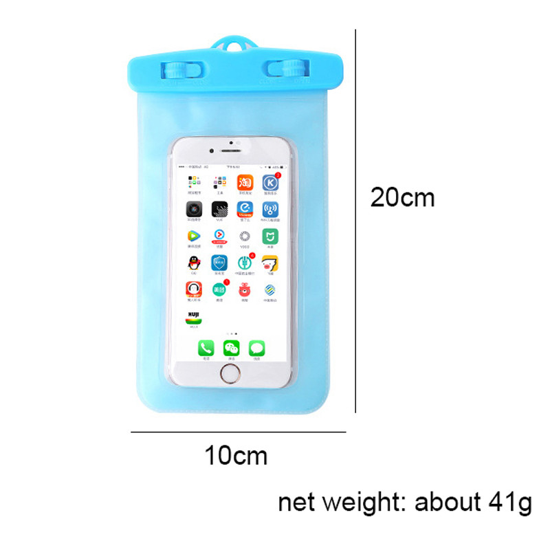 WeeYRN Swim Bag for iPhone 6 7 Plus 8 X 5S SE Universal Waterproof Phone Case Dry Bag Pouch for Samsung S8 Xiaomi Redmi Large
