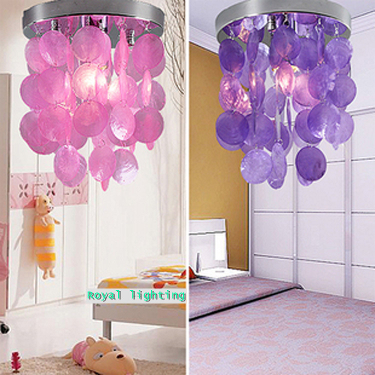 Wholesale price colorful shell ceiling lights hanging light simple modern porch lamp cor ...
