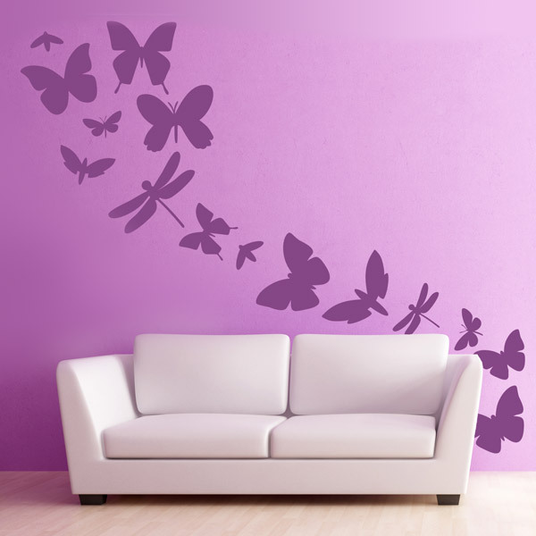 manga anime butterfly flying around home wall decals decorative living room tv wall stickers murals for bedroom sofa decals