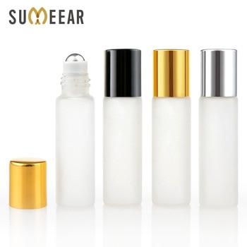 Orferta de fábrica 100 unids/lote minirrollo en botellas de aceite esencial frascos vacíos cosméticos de vidrio esmerilado botellas de Perfume recargables