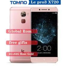 5.5 ''Letv LeEco Le Pro 3 X720 téléphone portable 4G RAM 32G 64G ROM snapdragon 821 Quad Core 16MP 4070mAh 4G LTE empreinte digitale