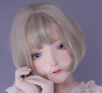 (LiLi Mask 35) Sweet Girl Resin Head Mask Kigurumi Cosplay Japanese Role Play Anime Silicone Kigurumi Mask Crossdresser Doll