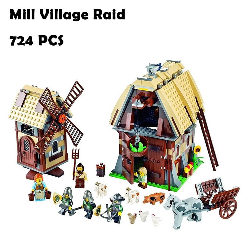 Model Building Blocks Toys 16049 742pcs Mill Village Raid Compatible