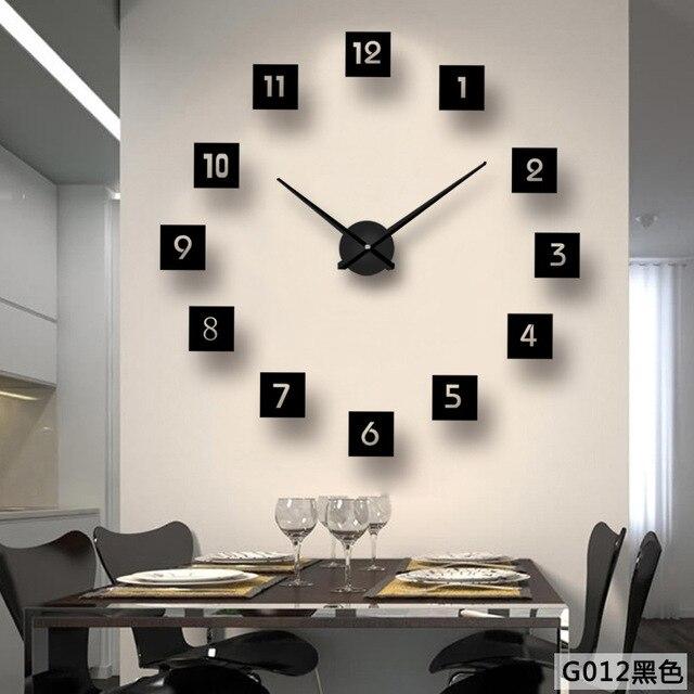 Reloj De Espejo Creativo Directo De Fabrica Reloj De Pared De Moda - Espejo-salon-moderno