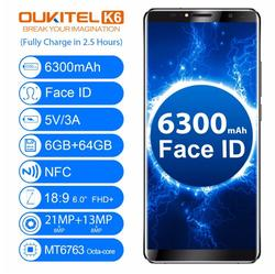 OUKITEL K6 Face Unlock Mobile Phone 6.0
