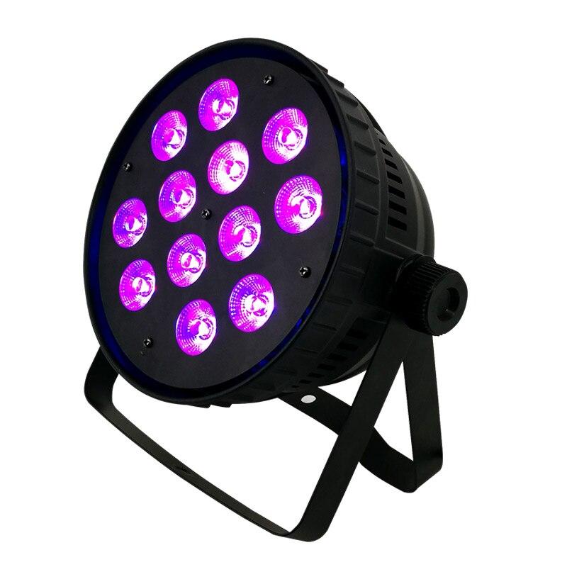 SHEHDS Aluminum Alloy LED Par 12x18W RGBWAUV6IN1 Silent Led Par Light Not Waterproof IP20 No Working Noise Aluminum Case Par Can