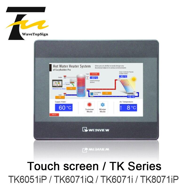 Weinview tela sensível ao toque tk6051ip/tk6071iq/tk6071ip/tk8071ip 4.3 polegadas 7 polegada + u disk baixar + cabo de comunicação + cabo de download