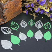 YLCD1612 Leaves Metal Cutting Dies For Scrapbooking Stencils DIY Album Cards Decoration Embossing Folder Die Cuts Tools Mold New(China)