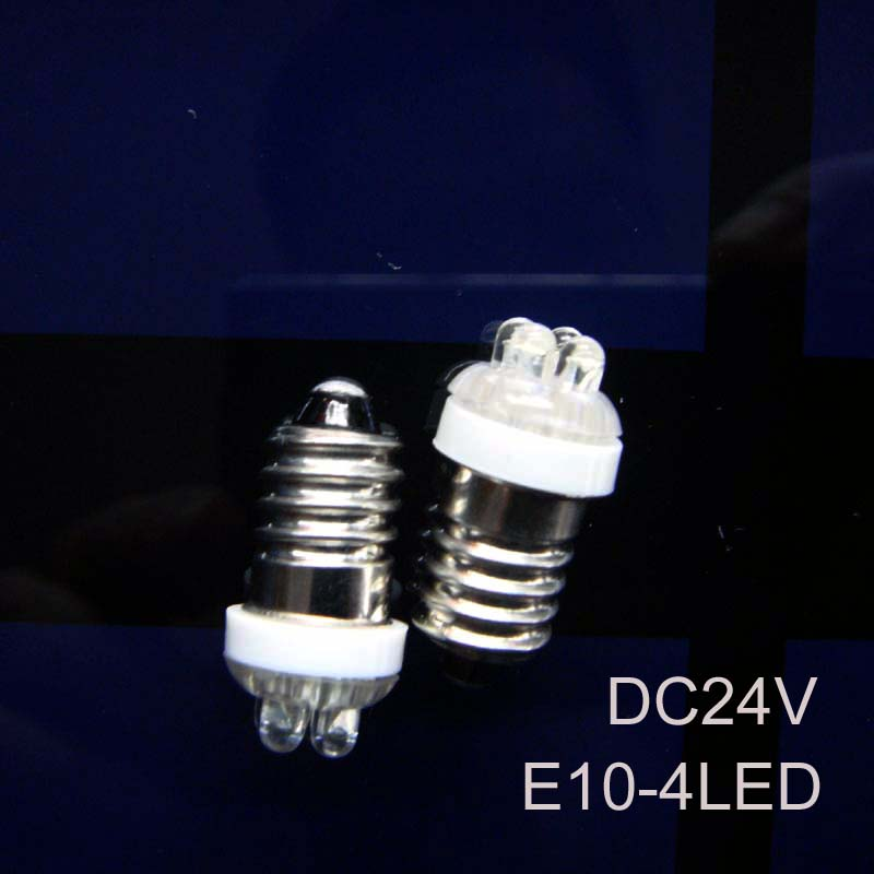 High quality <font><b>24v</b></font> <font><b>E10</b></font> bulb <font><b>led</b></font> <font><b>e10</b></font> <font><b>24v</b></font> <font><b>led</b></font> Indicator light,<font><b>24v</b></font> <font><b>E10</b></font> <font><b>led</b></font> Instrument Lights free shipping 50pcs/lot image