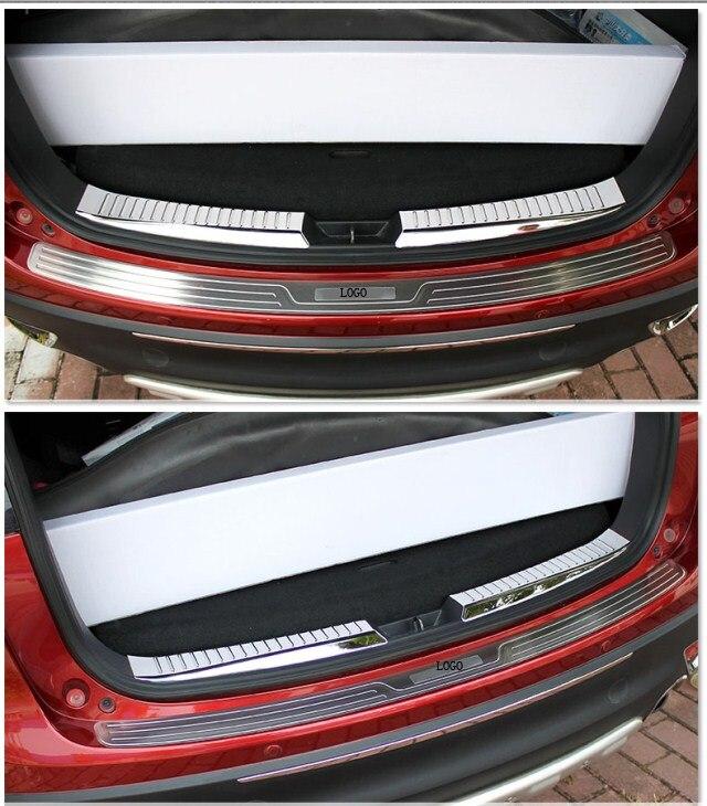 Car Rear Bumper Sill Protector Diffuser Spoiler Plate Trims For CX-5 CX5 2012 2013 2013 2014 2015