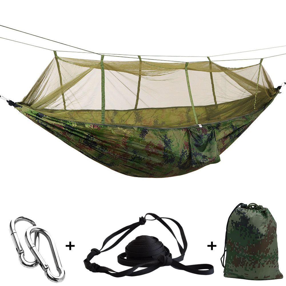 Ultralight Mosquito Net Hammock With Adjustable Straps And Carabiners Free Shipping Large Stocking 13 Colors