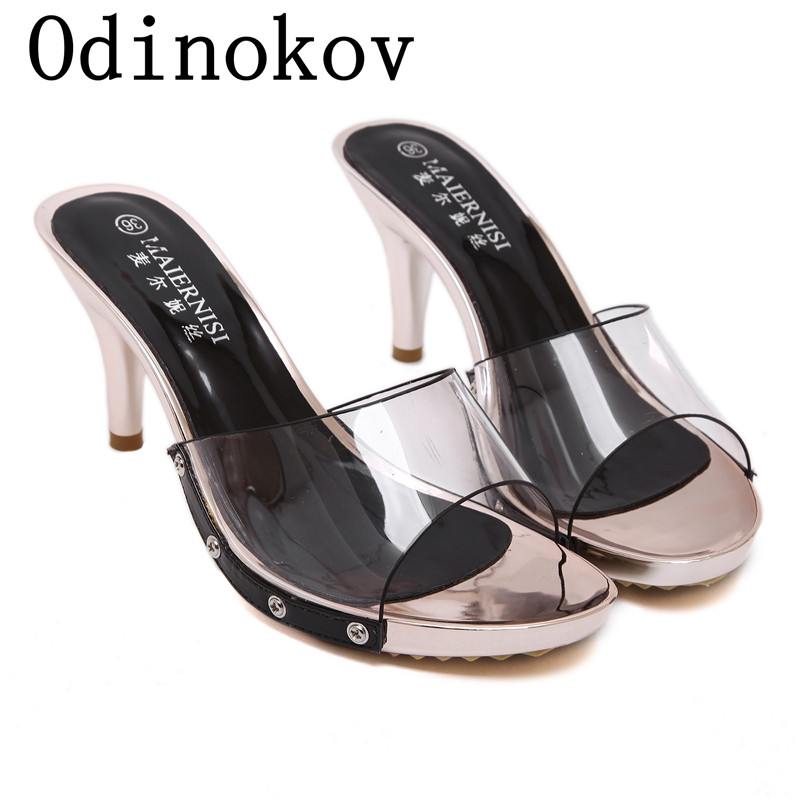 Summer Women High Heels Sandals Shoes Wedge Peep Toe Platforms Pumps Fashion Med Heel Good Quality Black White Party Dress Pumps