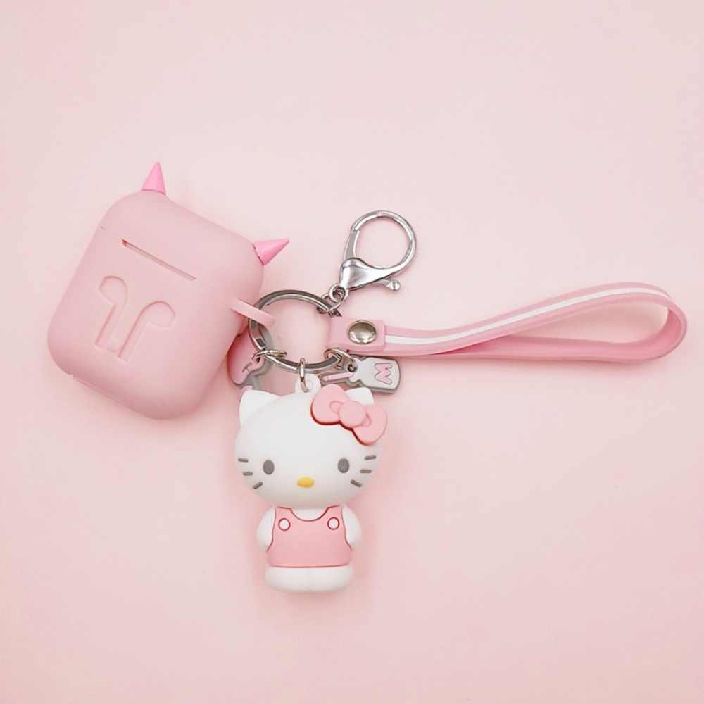 Cute Cartoon Hello Kitty Decoration Silicone Case For Apple Airpods Case Accessories Protective Cover Bluetooth Earphone Case
