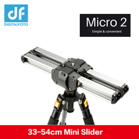 Micro 2 camera video mini slider Double Distance Travel Track Slider Dolly Rail For iphone x Smartphone DSLR//ARRI Mini/RED/BMCC