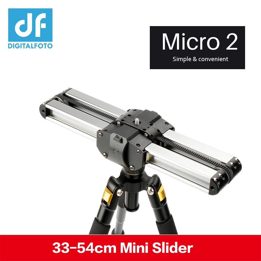 Micro 2 camera video mini slider Double Distance Travel Track Slider Dolly Rail For iphone x Smartphone DSLR//ARRI Mini/RED/BMCC