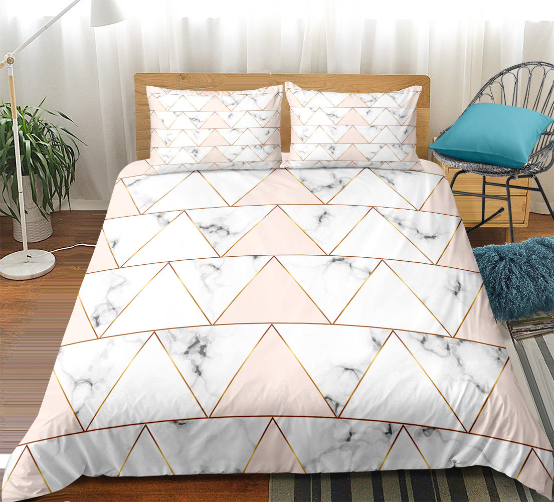 marble bedding set geometric duvet cover set queen nordic bed line for teen girl pink quilt cover bed set king home textiles