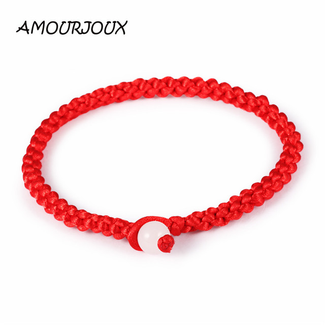 6c46d85e7fa3 Amurjoux 1 pieza unids A la moda una pulsera hilo rojo cadena roja pulseras  para mujer