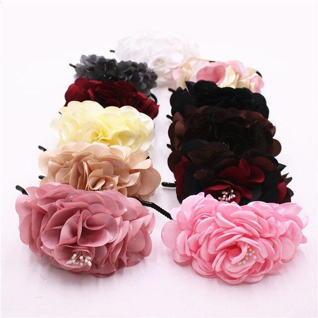 Boutique Niñas y mujeres flor hermosa gracia pelo bandas niños Bandas para  la cabeza niños amplia