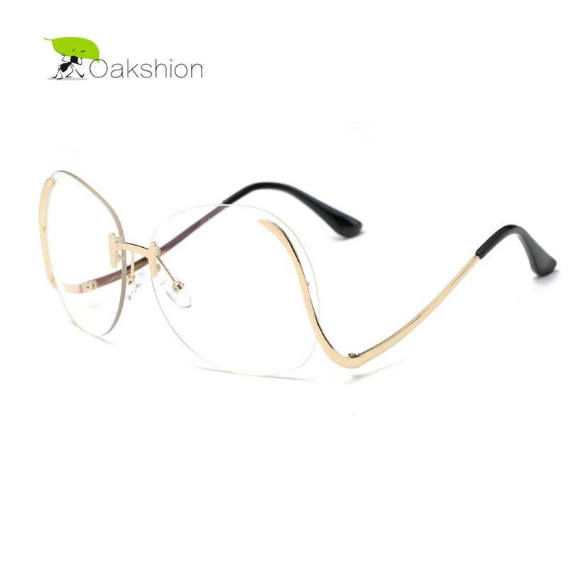 ①Claro Gafas rimless gradiente clásico ojo Gafas Marcos s para las ...