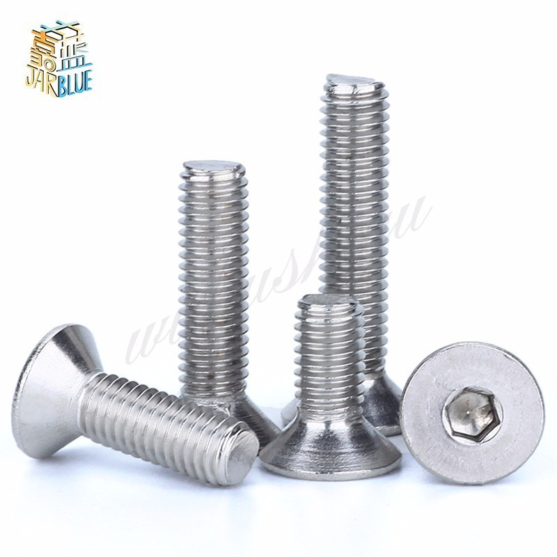 2 pcs 18-8 AISI 304 Stainless Steel 1//4-20 X 3//4 Shoulder Screws Hex Socket Drive