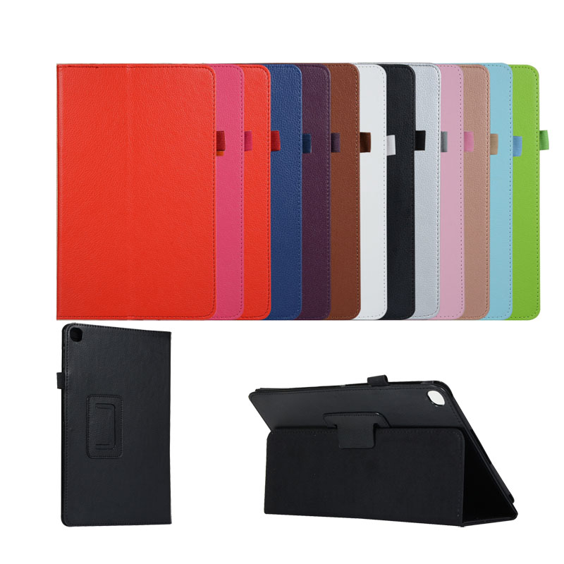 Good Quality Litchi Flip PU Cover For Samsung Galaxy Tab A 10 1 2019 T510 T515