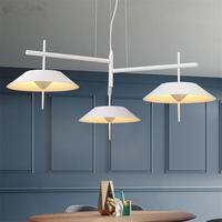Modern LED Pendant Light For Dining Coffee Room White Black Nordic Pendant Lamp Suspension Hanging Lamps