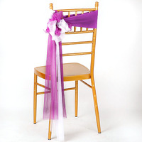 25pcs/lot Wedding Chiavari Chair Decoration White/Red Chair Sashes Stretch Lycra Chair Band For Hotel Banquet Party Decor
