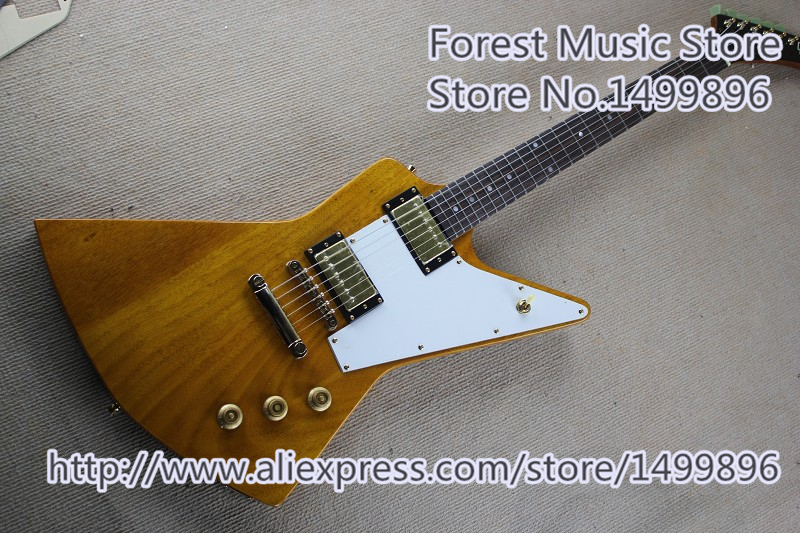 New Arrival Chinese Explorer Flying V Electric Guitar Rosewood Fingerboard Guitar Neck For Sale new arrival chinese famous brand oem company electric guitar factory direct beginner guitar high quality