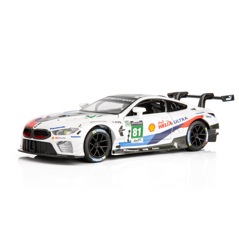 1:32 Diecast Metal Car Model Toys For Bmw M8 With Simulation Light And Music With Pull Back Function Electronic Car For Boy Gift