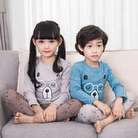 Children's Pajamas Sets Toddler Cotton Cartoon Printed Pajamas Children Clothing Baby Long Sleeve T Shirt Kids Thermal Underwear
